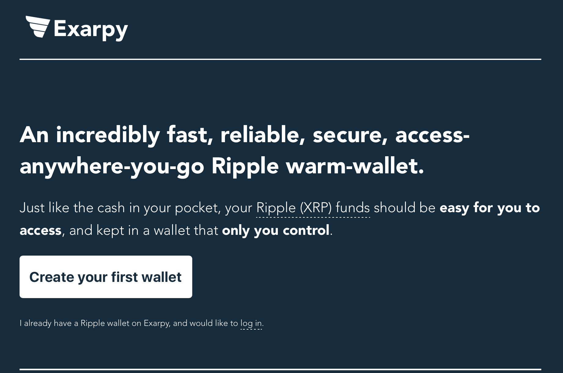 exarpay wallet review