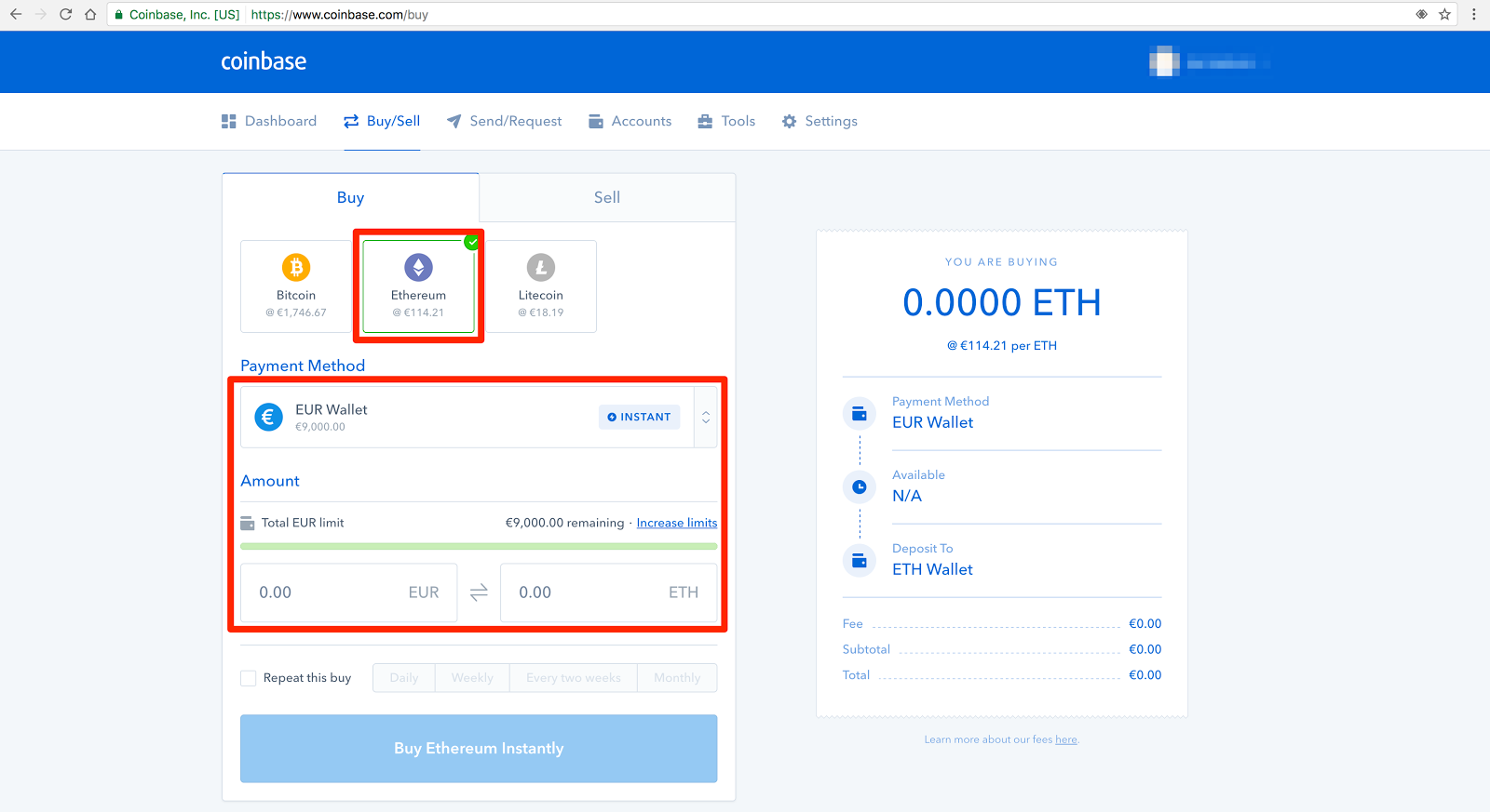 buy crypto coinbase