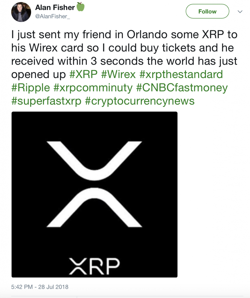 send xrp second