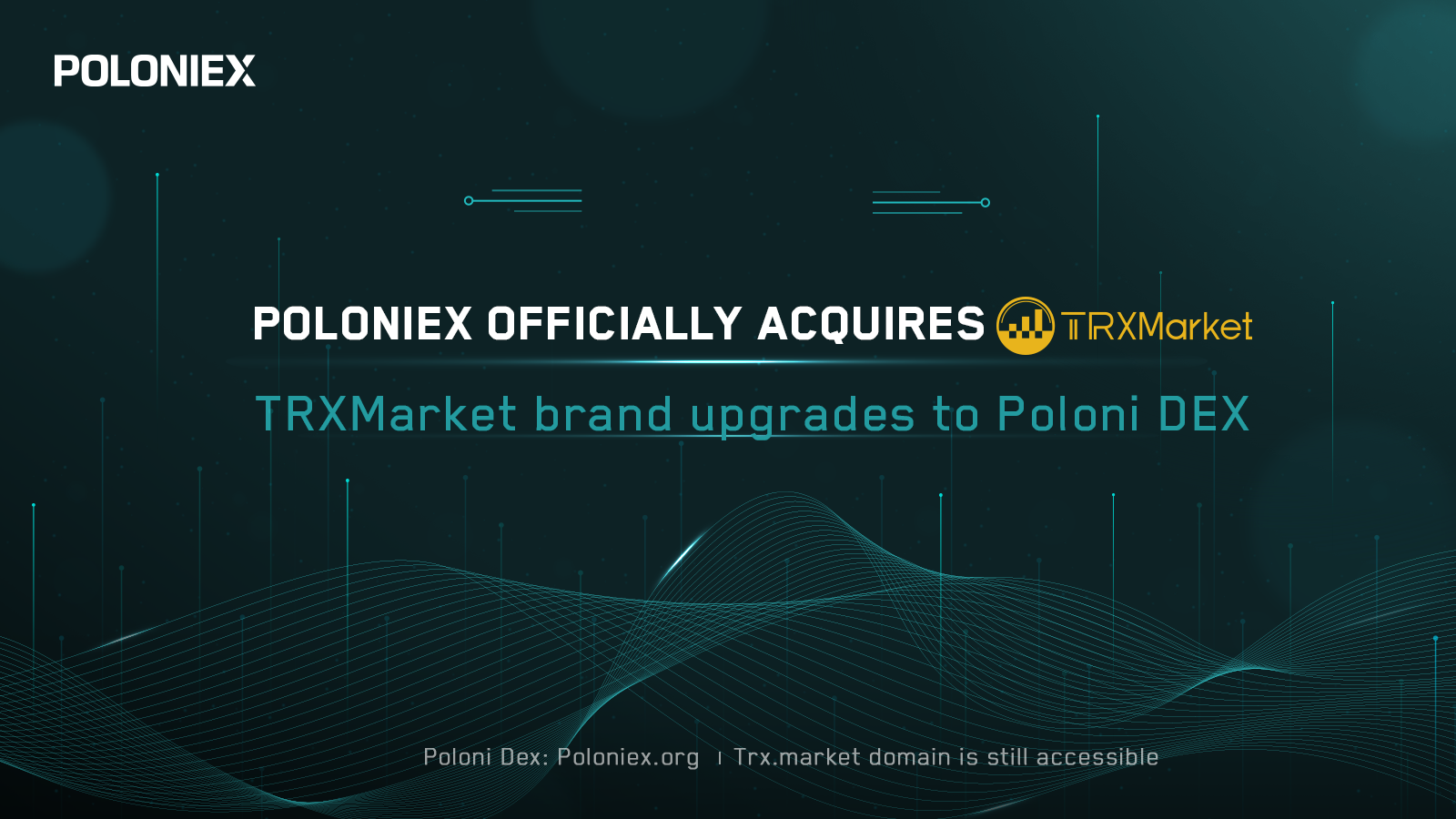 Poloniex Acquires Justin Sun's Decentralized Exchange, TrxMarket DEX
